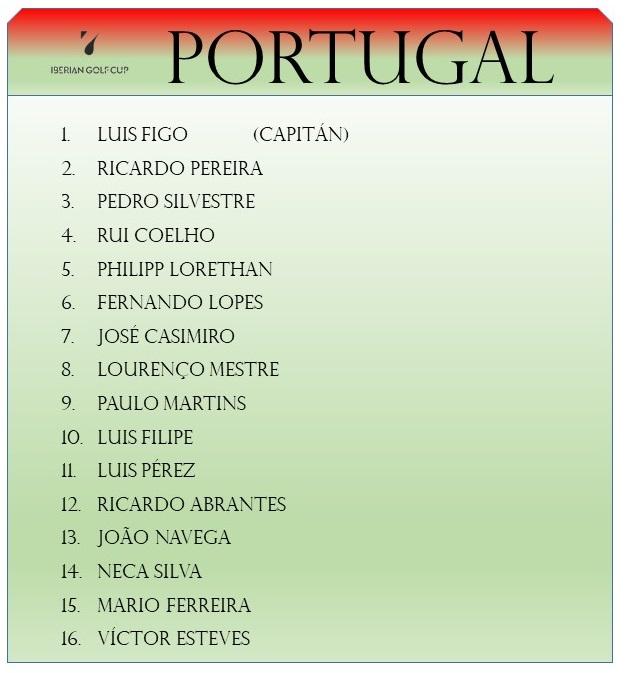 iberian golf cup equipo de portugal